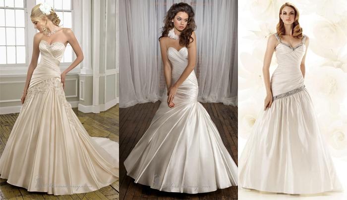 В настоящее время большой популярностью среди невест пользуется платье, так называемого, кроя «рыбкой». Многие интернет-магазины свадебных платьев в